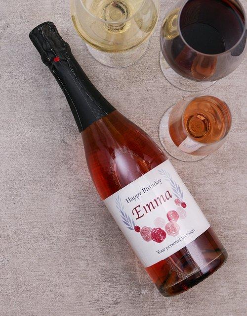 Personalised Birthday Wreathe Wine