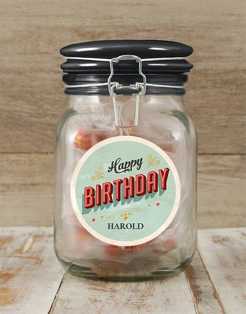 Personalized Birthday Candy Jar