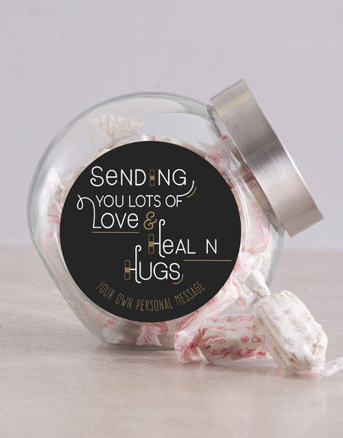 Personalized Healing Hugs Candy Jar