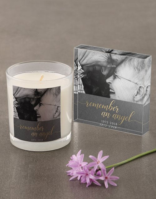 Personalised Remember An Angel Scented Candle