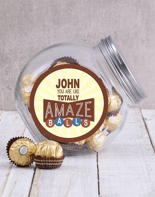 Personalized Brown Amazeballs Candy Jar
