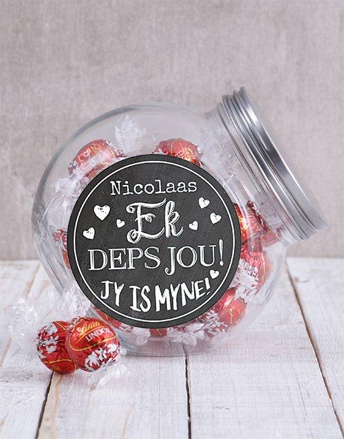 Personalized Ek Deps Jou Candy Jar