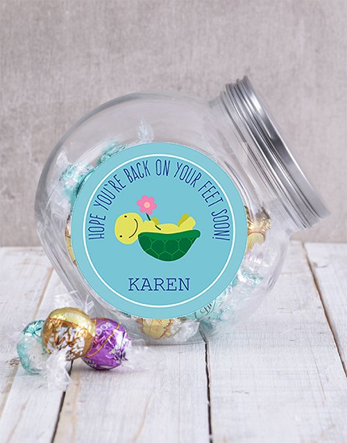 Personalized Back on Your Feet Candy Jar