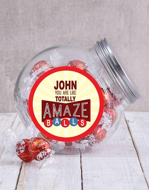 Personalized Red Amazeballs Candy Jar