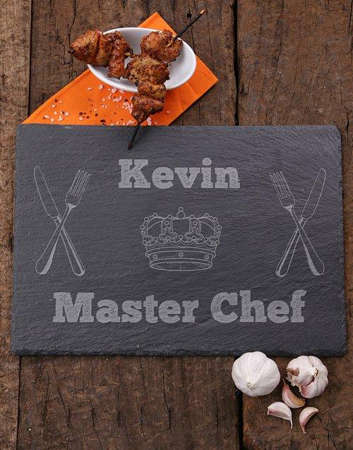 Master Chef Personalised Slate Board