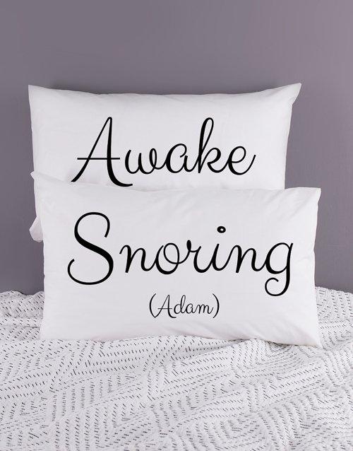 Personalised Snorning Pillowcase Set
