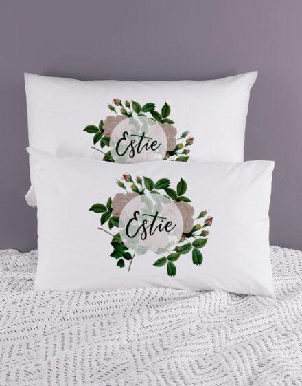 Personalised Roses Pillowcase Set