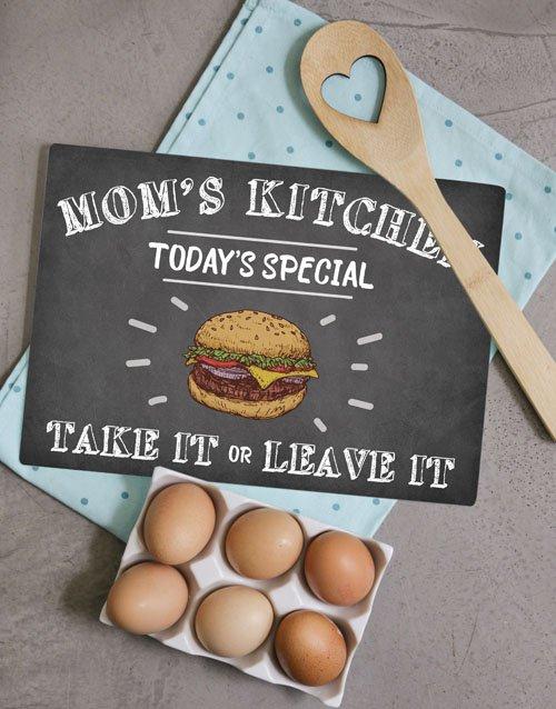 Kitchen Mom Glass Chopping Board