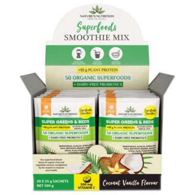 Nature's Nutrition Super Greens & Reds Protein Coconut & Vanilla