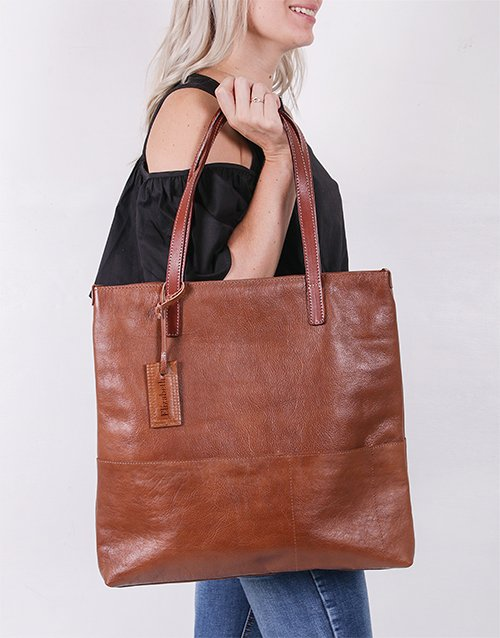 Personalised Tote Leather Bag
