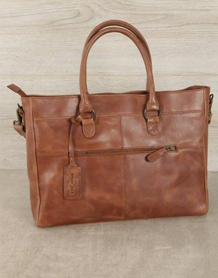 Jinger Jack Waxy Tan Casablanca Tote Bag