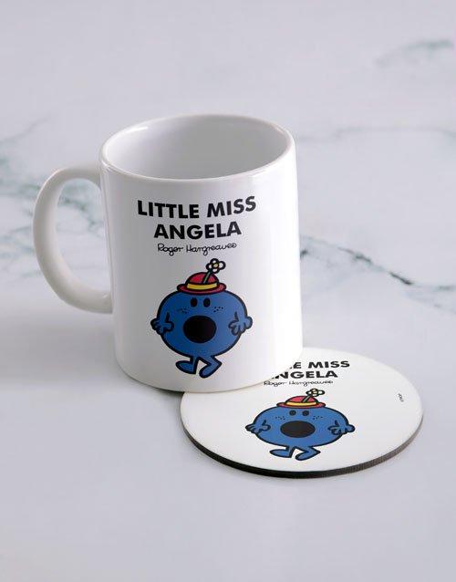 Little Miss Bossy Personalised Mug And Coaster