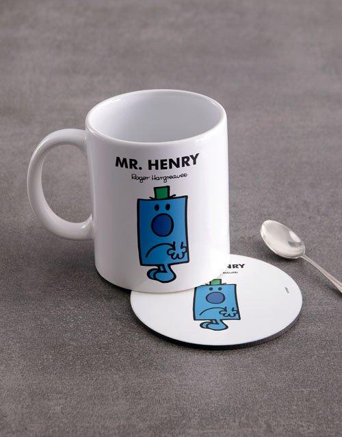 Mister Grumpy Personalised Mug And Coaster
