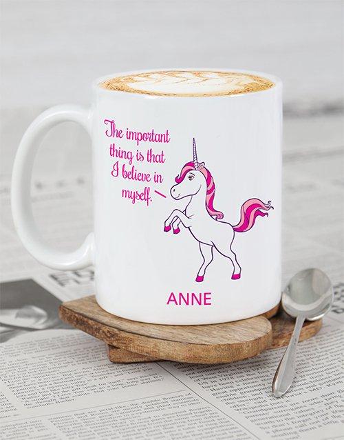 Unicorn Motivation Personalised Mug