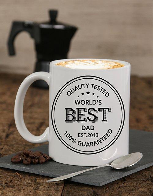 Quality Tested Dad Personalised Mug
