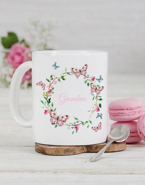Butterfly Grandma Personalised Mug