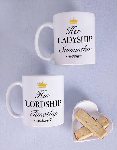 Lordship Couples Personalised Mug Set