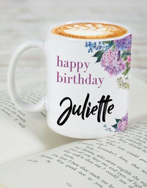 Floral Birthday Personalised Mug