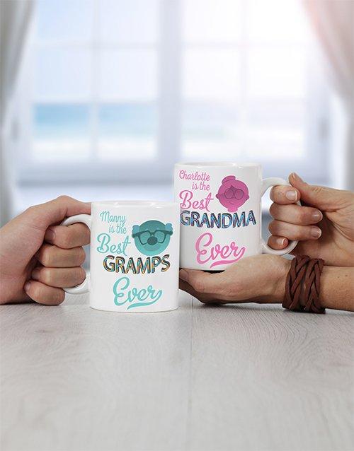 Grandpa & Grandma Personalised Mug