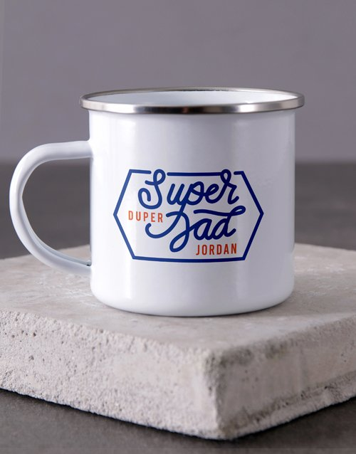 Super Duper Dad Camper Personalised Mug