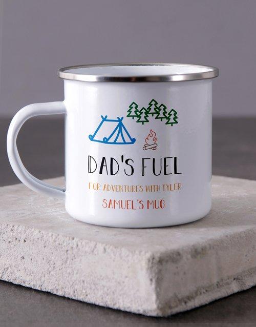 Dad Fuel Camper Personalised Mug