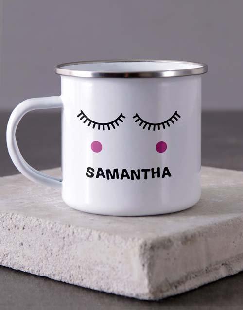 Name Camper Personalised Mug