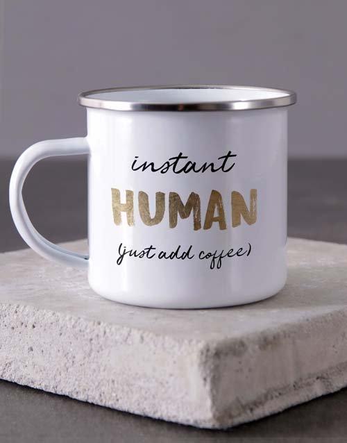 Instant Human Camper Personalised Mug