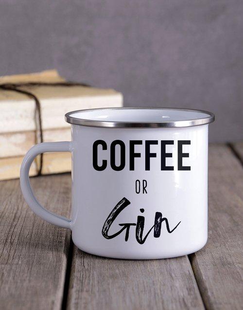 Coffee Or Gin Camper Personalised Mug