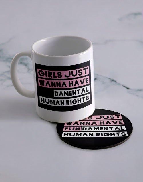 Have Fun Personalised Mug And Coaster Set