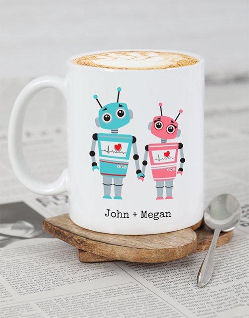Robot Love Personalised Mug
