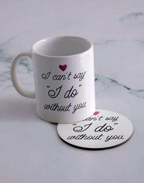 Say I Do Personalised Mug And Coaster Set