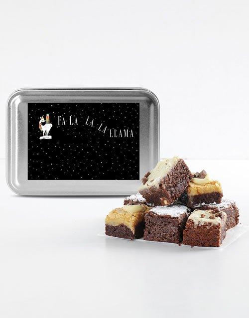 Fa La La Llama Chocolate Brownies