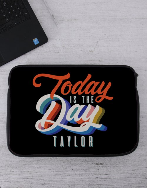 Personalised Today Tech Device Sleeve