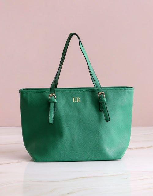 Personalised Green Shopper Bag