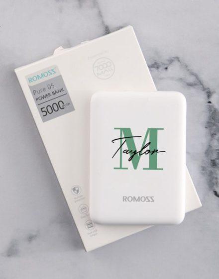Personalised Initial Romoss Power Bank
