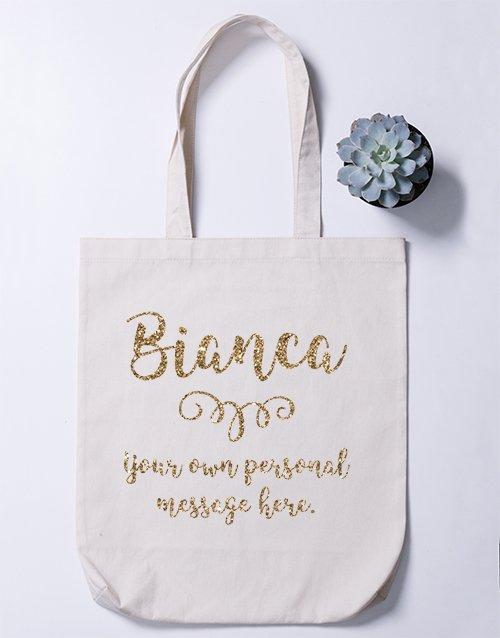 Personalised Name Branch Tote bag