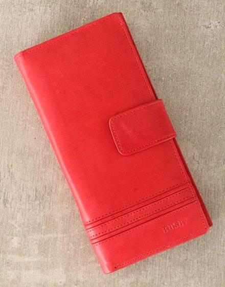Personalised Busby Red Ladies Purse