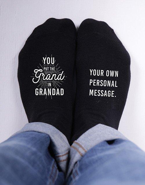 Personalised Grand Grandpa Socks