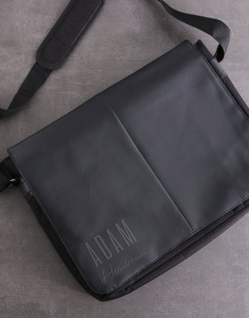 Personalised Plain And Simple Laptop Bag