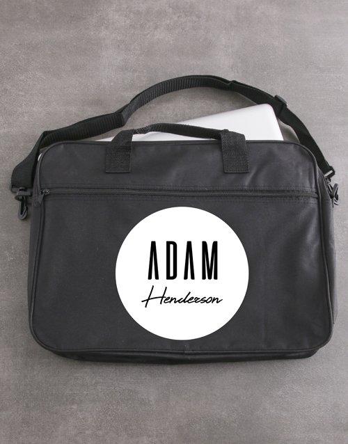 Personalised Retro Name Laptop Bag