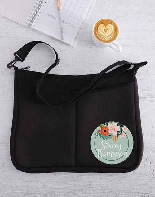Personalised Floral Laptop Bag