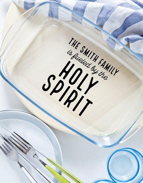 Personalised Holy Spirit Dish