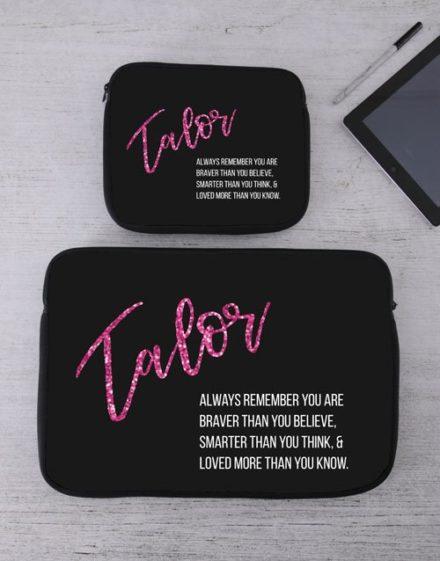 Personalised Remember Tablet or Laptop Sleeve