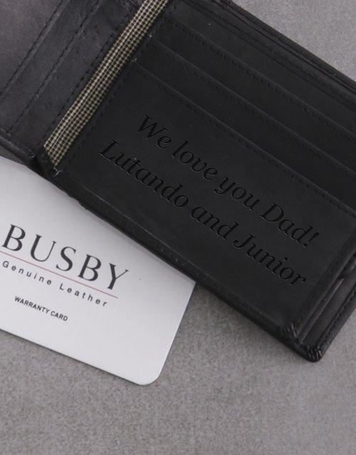 Personalised Elegant Black Busby Wallet
