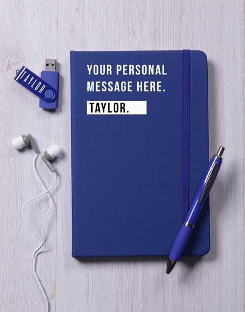 Personalised Blue Tech Set