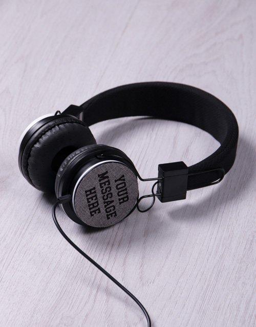 Personalised Message Headphones