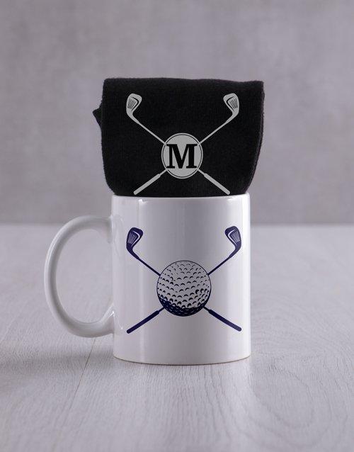 Personalised Golf Socks And Mug