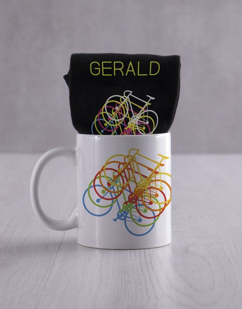 Personalised Cycling Socks And Mug