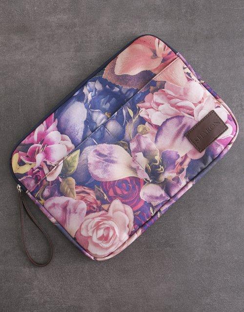 Personalised Floral Laptop Organiser