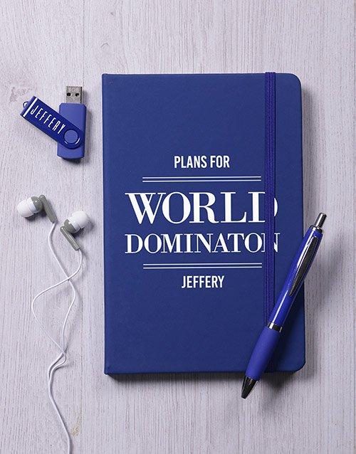 Personalised World Domination Tech Hamper